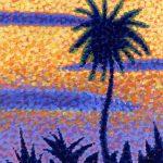 Palm Tree At Dusk