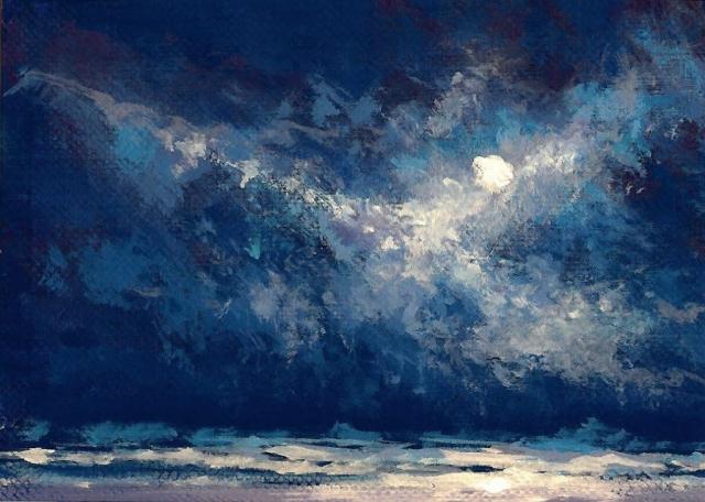Moonlit Surf No. 21 ACEO