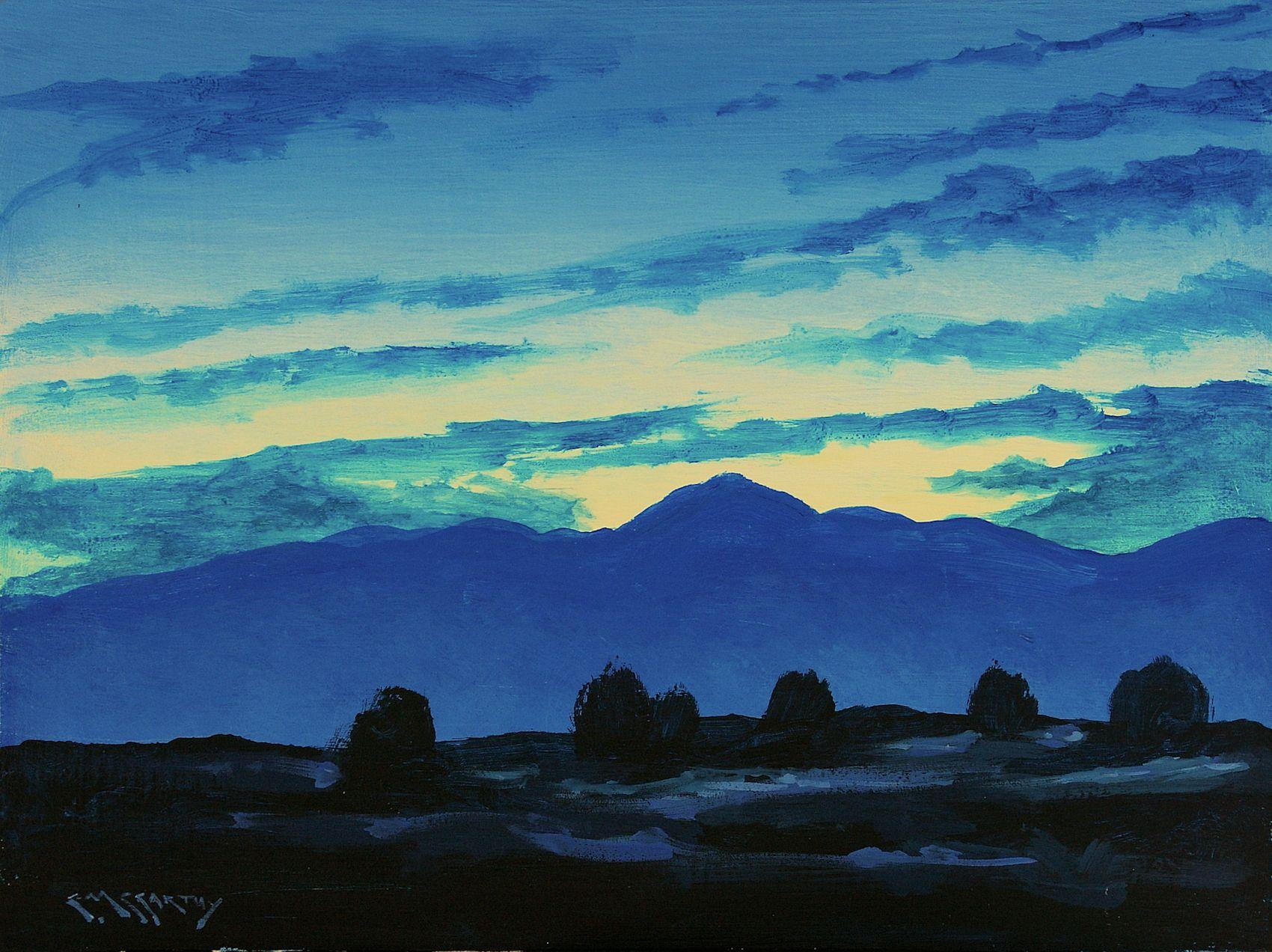 Pikes Peak At Twilight