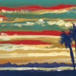 Palms At Sunset No.1 ACEO