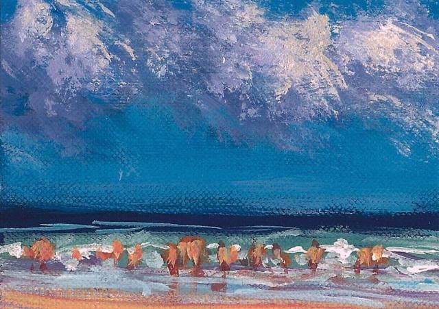 Impression, Beach Scene No.1 ACEO