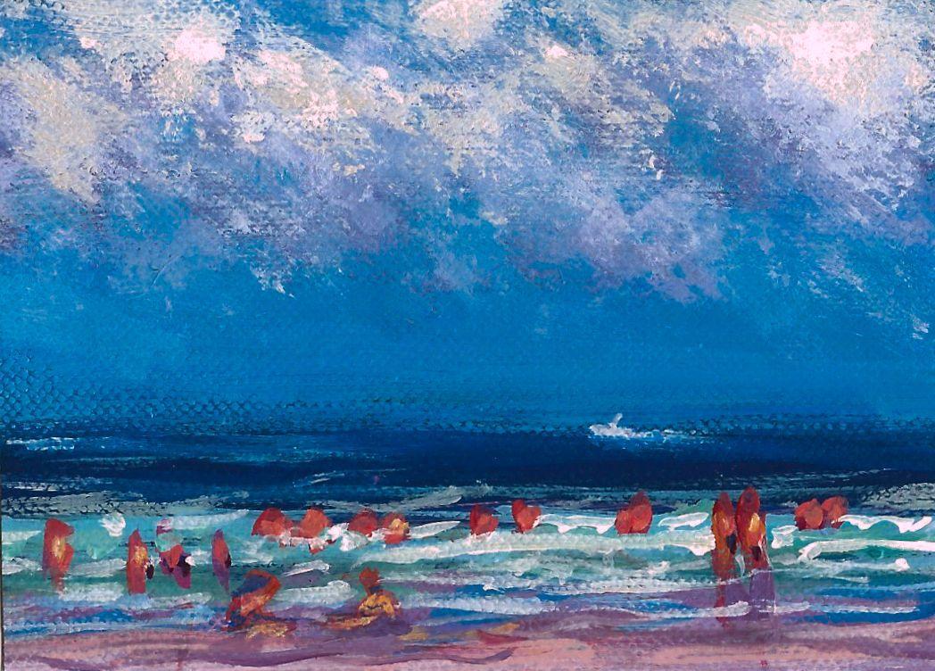 Impression, Beach Scene No.2 ACEO