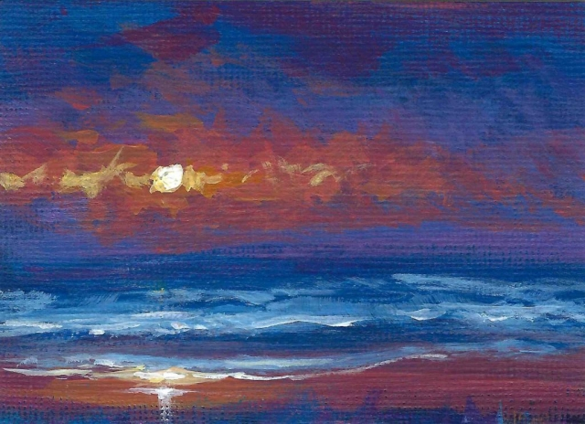 Sunset Beach No.1 ACEO